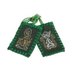 Green Wool Scapular - 12/pk