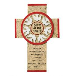 Gifts of the Spirit Wall Cross - Red