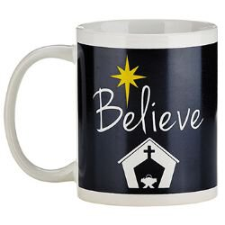 Believe Christmas Mug - 12/pk