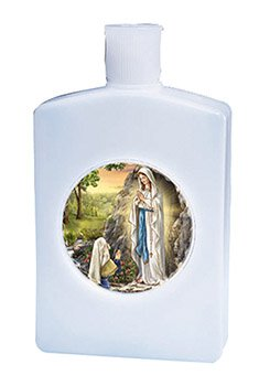 Our Lady of Lourdes Holy Water Bottle - 12/pk