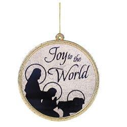 Joy to the World Round Ornament - 18/pk