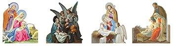 Nativity Stand Up Assortment (4 Asst) - 50 sheets/pk
