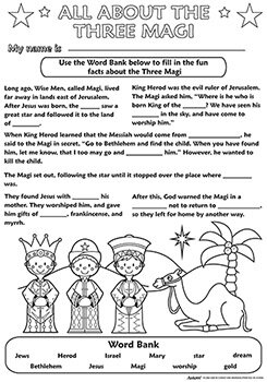 Color Your Own Poster - All About the Three Magi - 50/pk