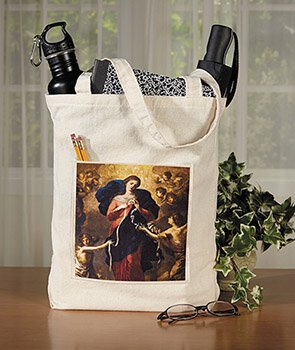 Mary, Untier of Knots Tote Bag with Pocket - 12/pk