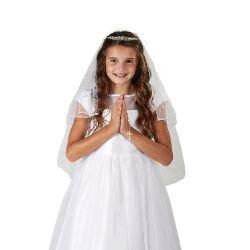 Gemstone Tiara First Communion Veil