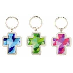 Mosaic Cross Key Chain Assortment (3 Asst) - 12/pk