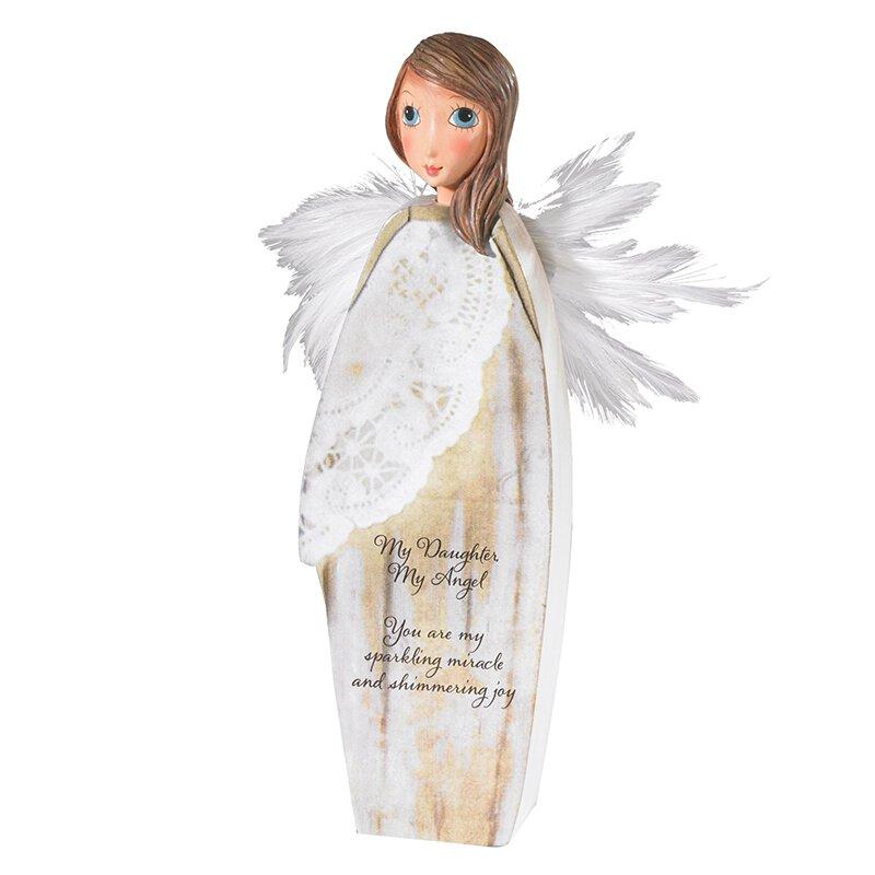 Daughter Enfolding Wings Angel - 2/pk