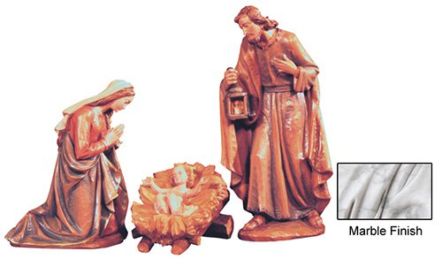 3-Piece Nativity Set - Marble
