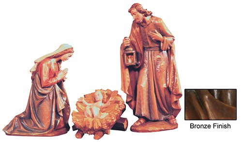 3-Piece Nativity Set - Bronze