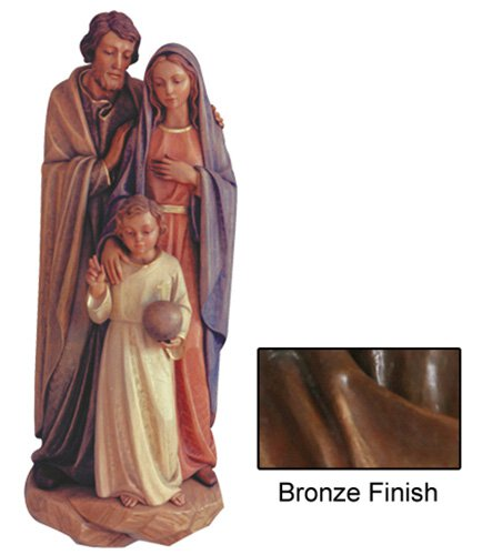 Holy Family Wall Relief - Bronze