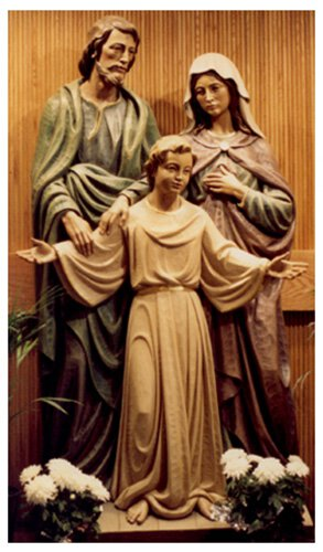 Holy Family Statue - Wood
