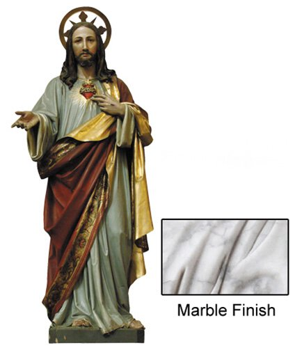 Sacred Heart Statue - Marble