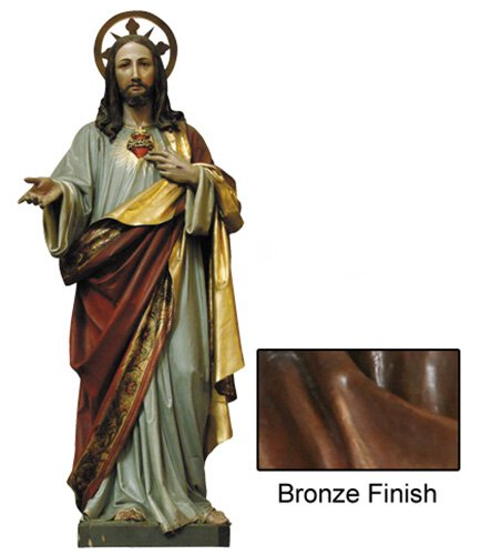 Sacred Heart Statue - Bronze