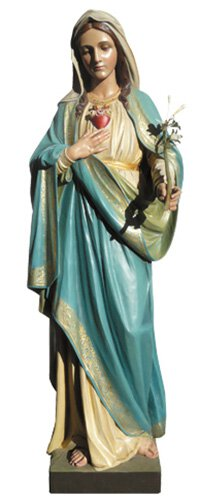 Immaculate Heart Statue - Wood