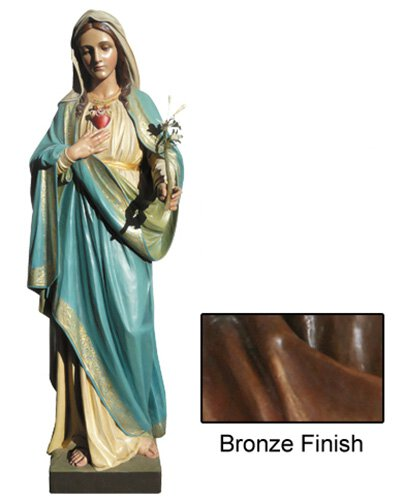 Immaculate Heart Statue - Bronze