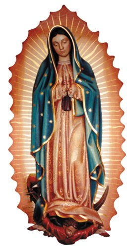 Our Lady of Guadalupe Wall Relief - Wood