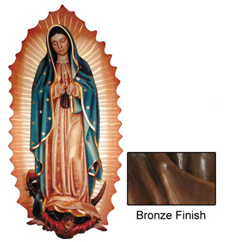 Our Lady of Guadalupe Wall Relief - Bronze