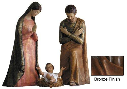 Modern Nativity Set - Bronze