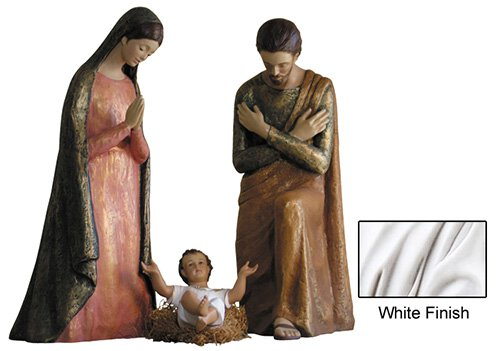 Modern Nativity Set - White