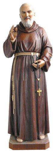 St Pio Statue - Wood
