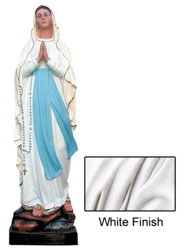 Our Lady of Lourdes Statue - White