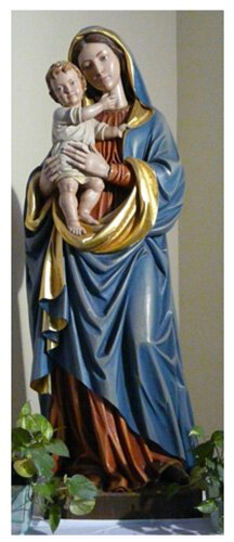 Madonna and Child Statue - Wood