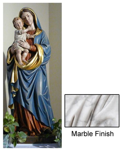 Madonna and Child Statue - Marble