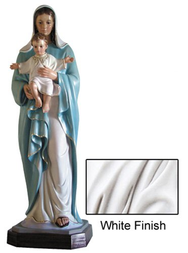 Madonna and Child Statue - White