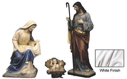 "40"" Nativity Set - White"
