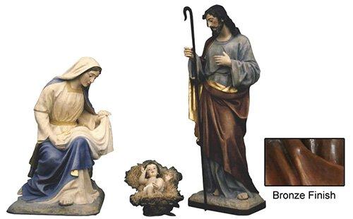 "64"" Nativity Set - Bronze"