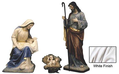 """64"""" Nativity Set - White"""