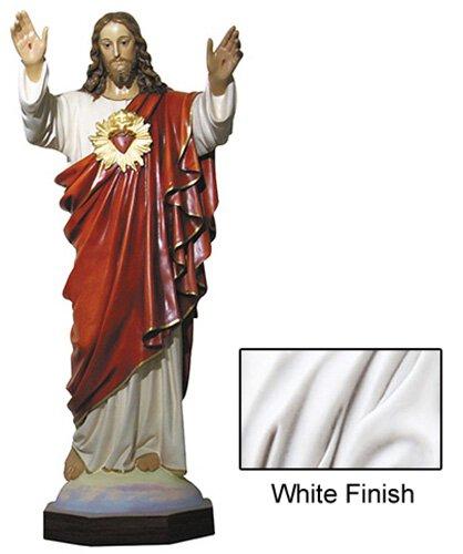 "64"" Sacred Heart Statue - White"