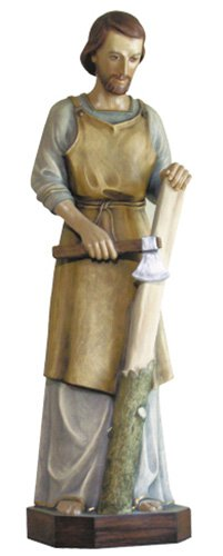 St Joseph the Worker Statue - Color