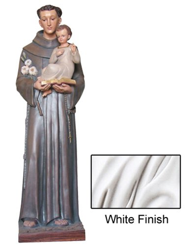 St Anthony Statue - White