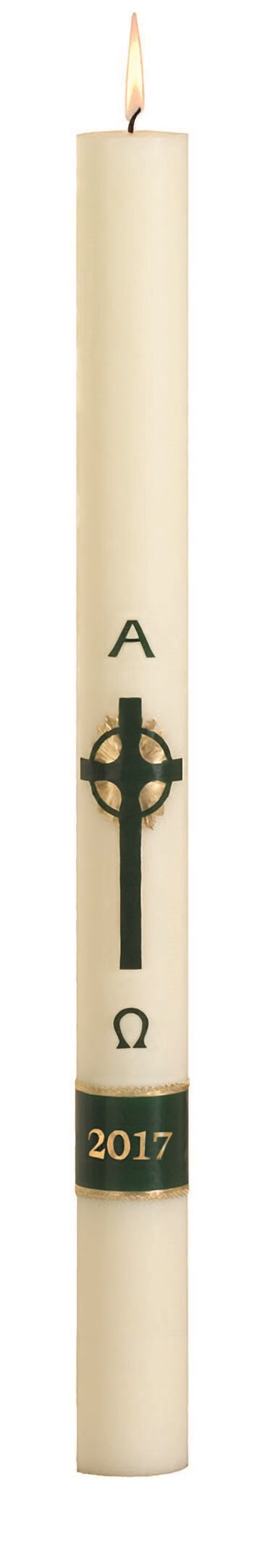 No 8 Emerald Cross Paschal Candle