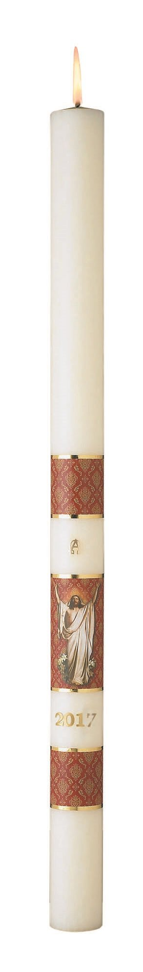 No 5 Risen Christ Paschal Candle