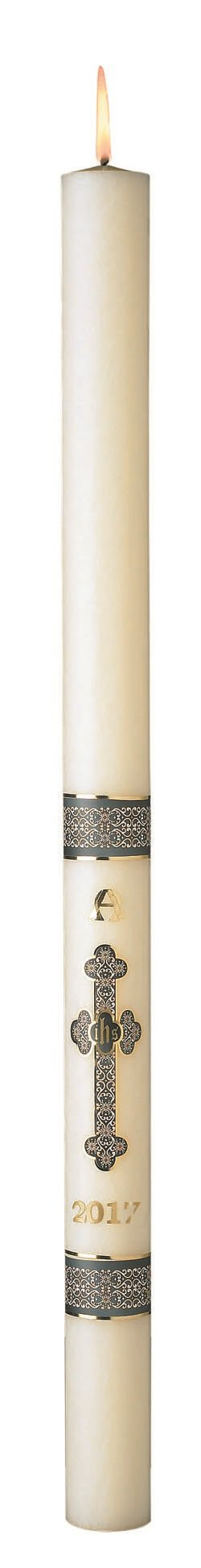 No 6 Special Budded Cross Paschal Candle