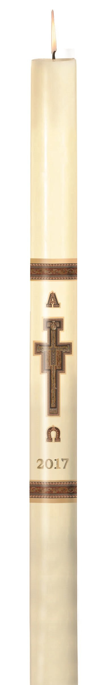 No 10 San Damiano Paschal Candle