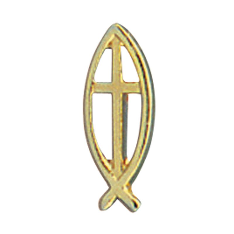 Ichthus Cross Lapel Pin - 25/pk