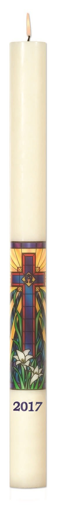 No 8 Radiant Light Mosaic Paschal Candle