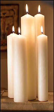 "16"" Large Diameter Plain End Altar Brand® Candle"