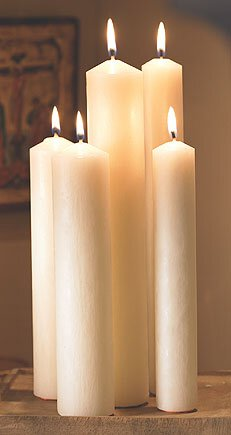 "16"" Large Diameter All-Purpose End Altar Brand® Candle"