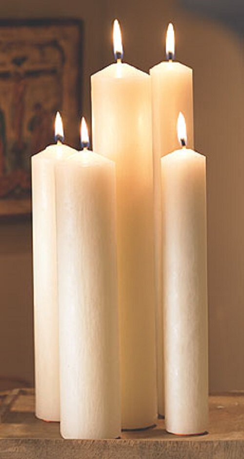 "9"" Large Diameter All-Purpose End Altar Brand® Candle - 6/pk"