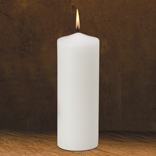 "9"" Traditional White Pillar Candle"