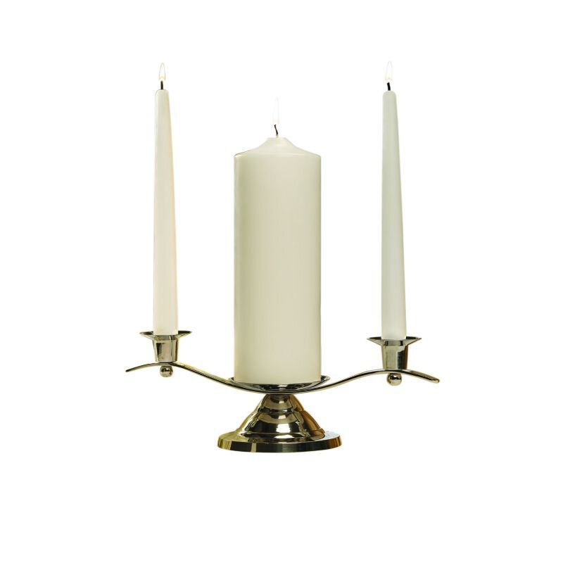 Silver Unity Candle Holder