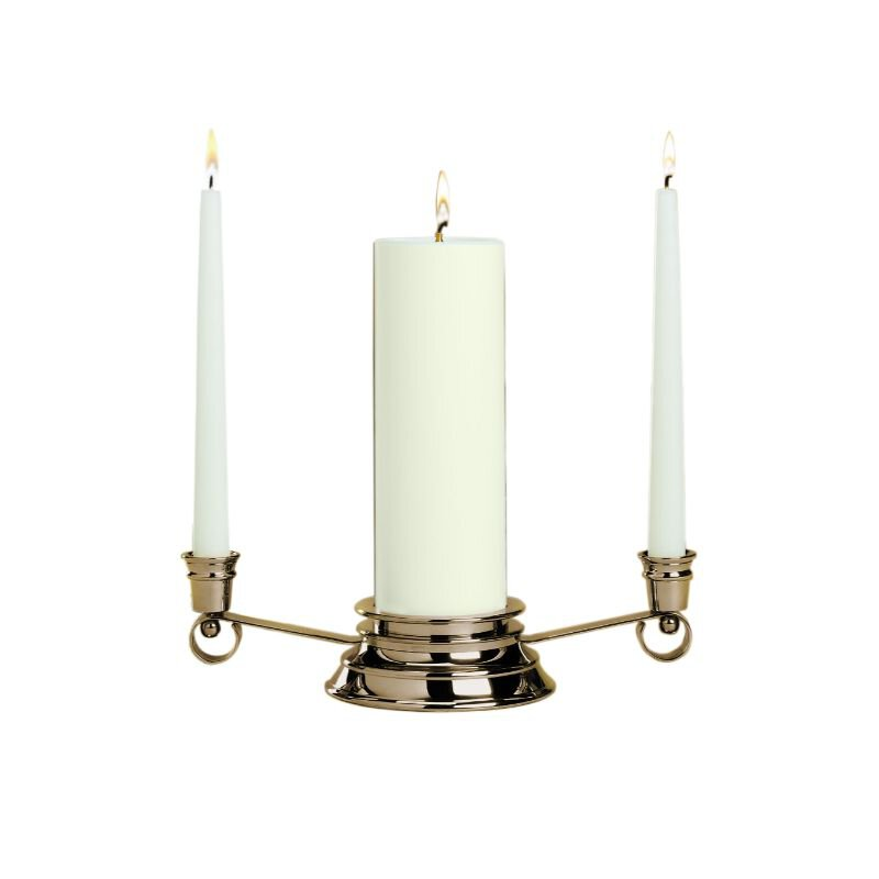 Silver Curved Silhouette Unity Candle Holder