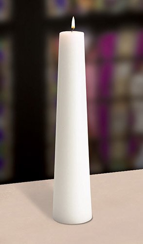 White Conical Christ Candle