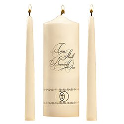 Two Shall Become One Unity Candle Set - 2 sets/pk