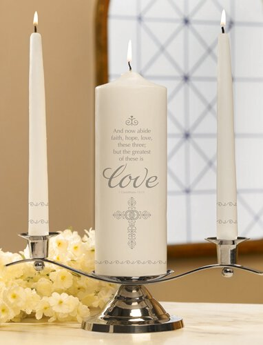 Faith, Hope and Love Unity Candle Set