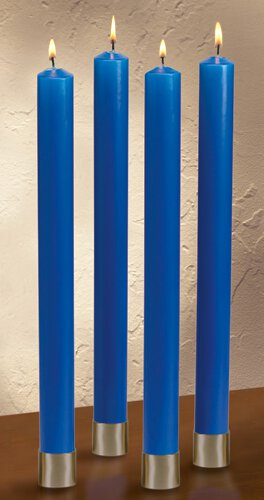 "12"" Polar Advent Candle Set - Blue"